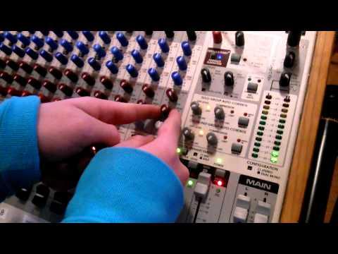 sound system setup in a church