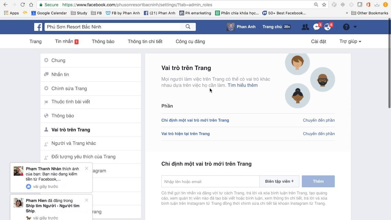 Hướng dẫn Quản trị Vai trò trên trang Fanpage (Admin Roles)