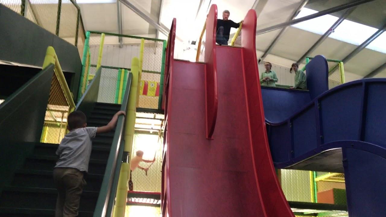 Adam Foster On The Big Slide At Chobham Adventure Farm Youtube