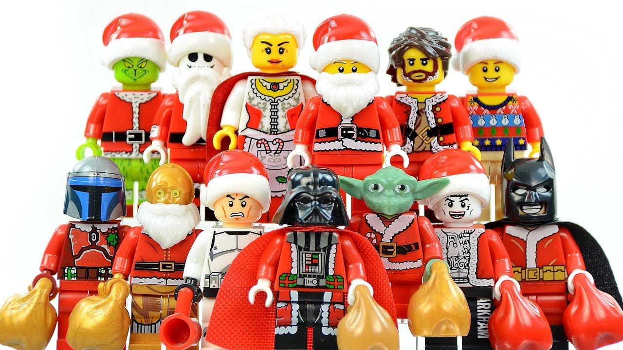Grinch Santa Claus Christmas Lego Minifigure Toy