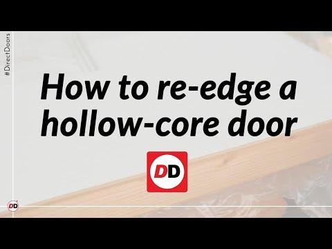 How To Re Edge A Hollow Core Door