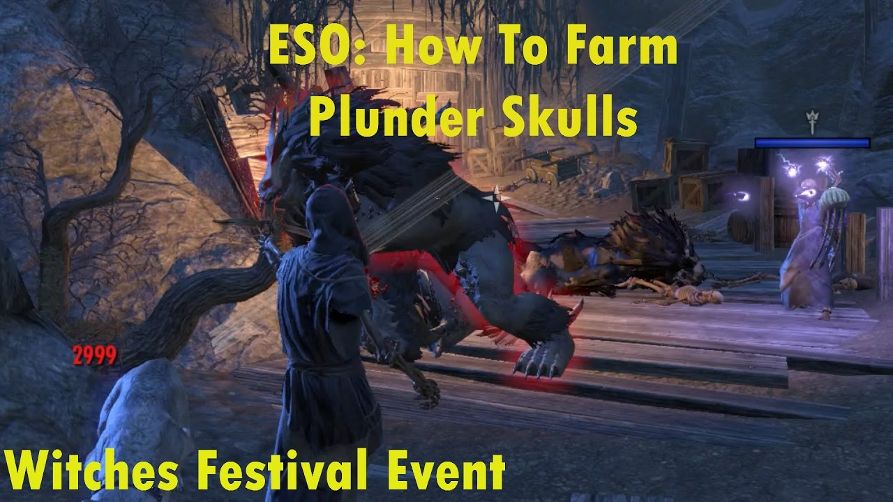 Elder Scrolls Online Halloween 2020 How To Get Plunder Skulls ESO: Plunder Skull Farming (Witches Festival)   YouTube
