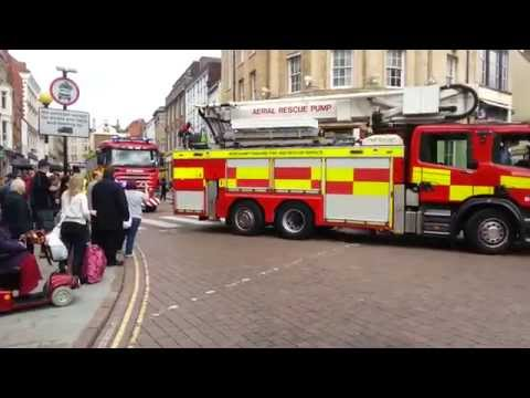 Northamptonshire's firefighters parade
