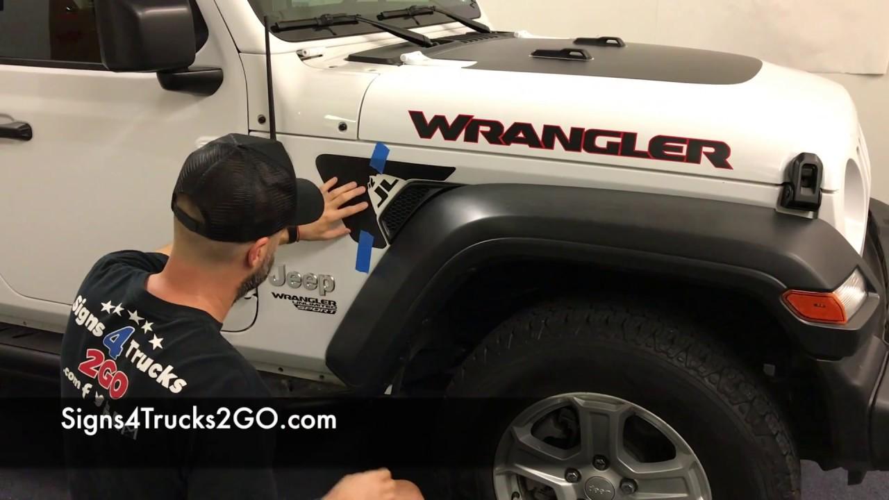 Decal installation jeep jl wrangler fender vent decal installation signs4trucks2go video n19