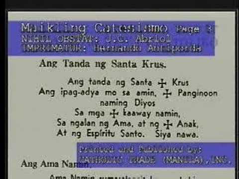 Ang tanda ng Sta-krus sign of the cross