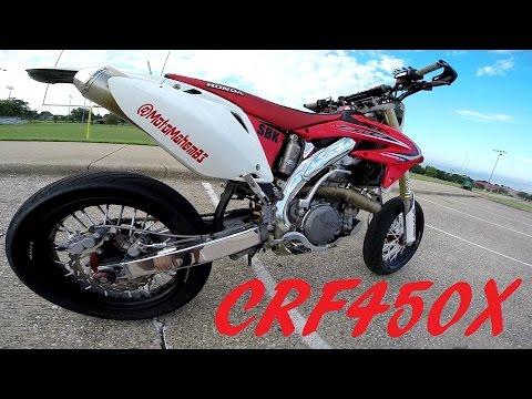 HONDA CRF450X SUPERMOTO WALKAROUND | UPDATED | HAND BRAKE