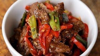 Жареная говядина с острым соусом хойсин. Рецепт