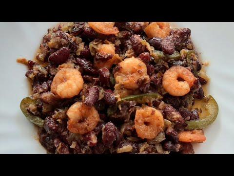 comment-cuisiner-le-haricot-rouge?-recette-haricots-rouge-sauté-aux-crevettes-fraîches