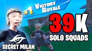 Secret Milan's 39K vs Squads ( Fortnite Fortnite
