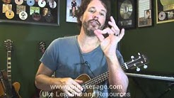 Ukulele lessons How to play bar chords on the ukulele - beginner uke lessons