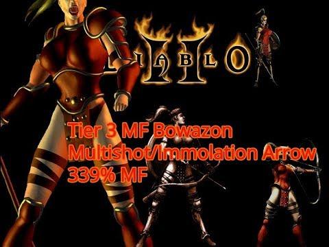 Diablo 2 Path Of Diablo - Tier 2 MF Bowazon 336% MF Multishot/Immo Arrow