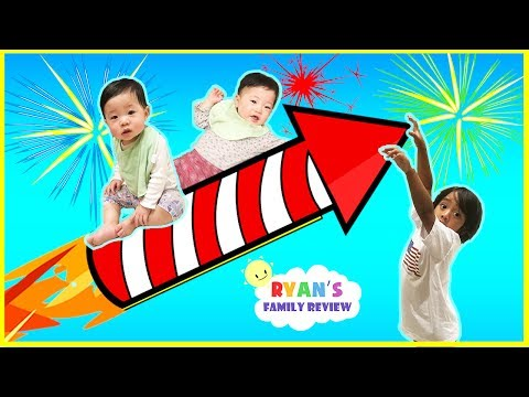Thumbnail: Twin babies first 4th of July! Family Fun Day with Ryan's Family Review!