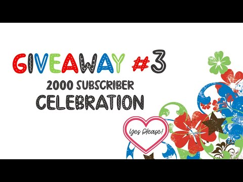 2000 Subscriber Giveaway # 3 | Yes Please !!!