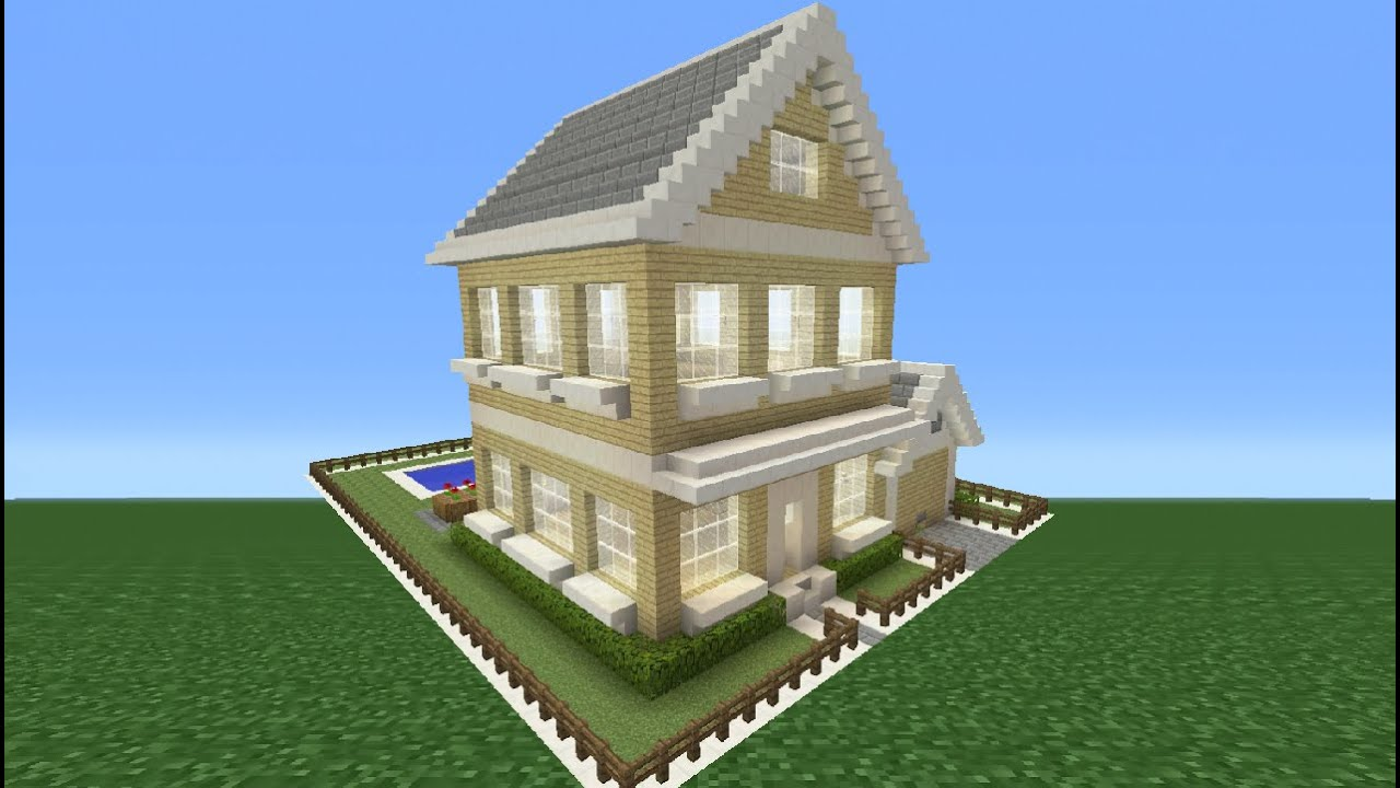 Minecraft tutorial how to make a suburban house youtube for Minecraft big modern house tour