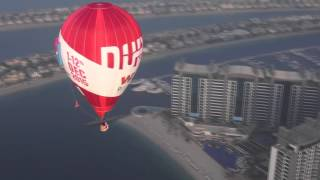 Balloon Chasing with Autogyro over the Palm, Dubai :)