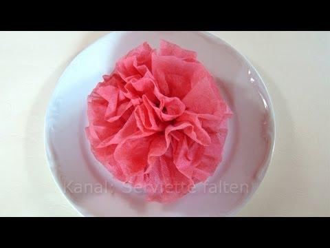 Servietten falten Rose  Blume  Einfache Deko fr Hochzeit  YouTube