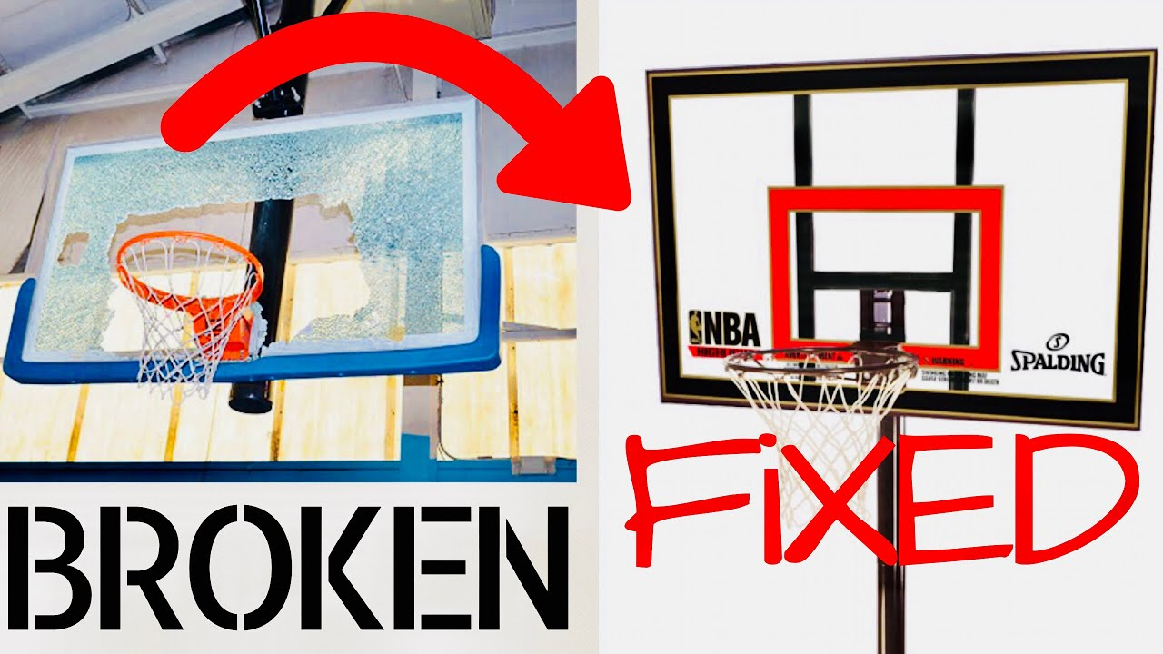 To Repair A Broken Basketball Backboard