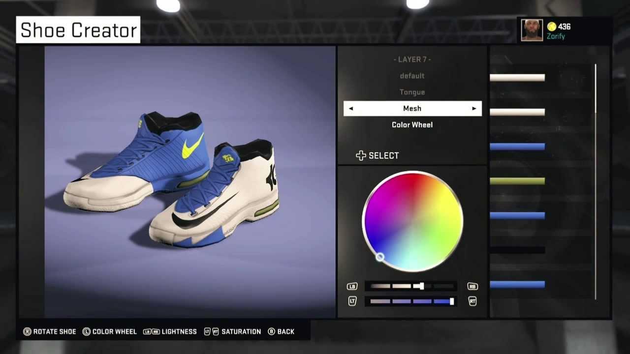 NBA 2K15 Shoe Creator - Nike KD 6 PE