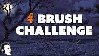 4 Brush Challenge: Creepy Halloween Landscape