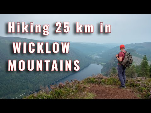 Hiking 25 km in Wicklow mountains