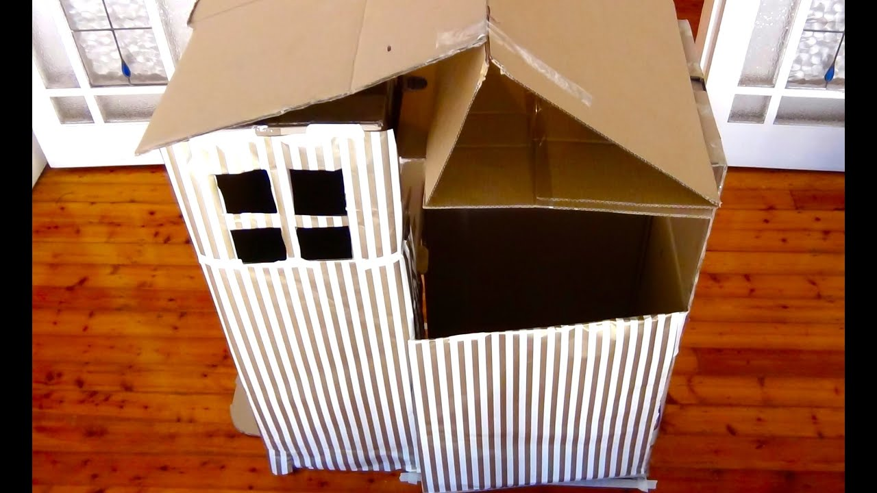 How to make a cardboard cubby house youtube for Things to know when building a house