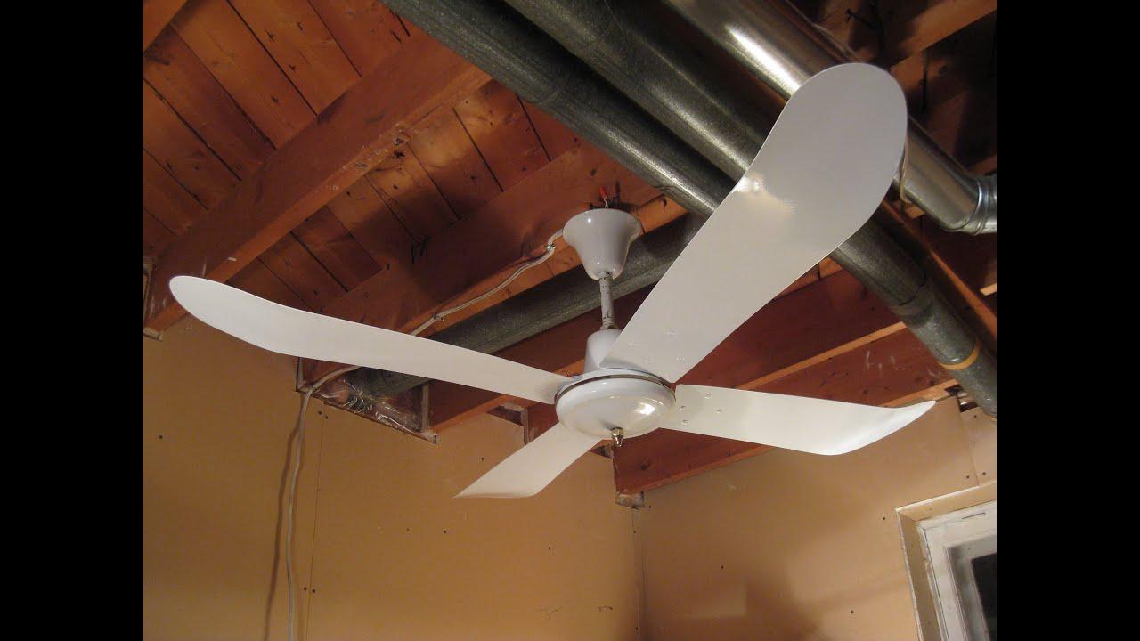 1980's Golden Fan 140 cm Industrial Ceiling Fan - YouTube
