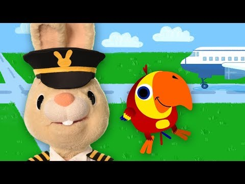 Harry And Larry Pretend Play Airplane Pilot | Baby Learning First Words with The Jobs Song for Kids