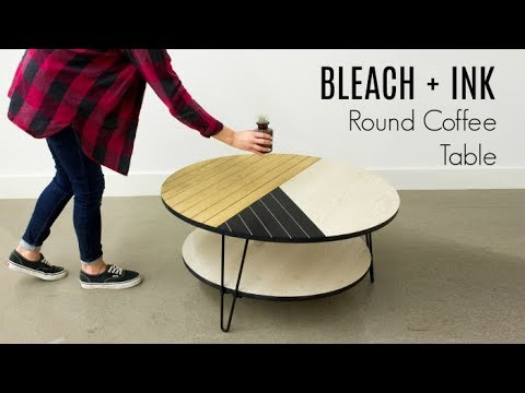 BLEACH + INK Round Coffee Table | COLLAB W/ Foureyes Furniture & DIY Huntress