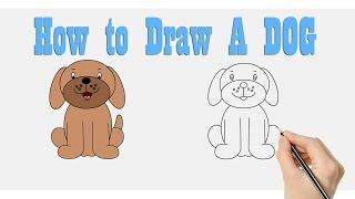 Dibujar + para Colorear de Un Perro : Cómo Dibujar N, el Boceto de un Perro de dibujos animados para los niños