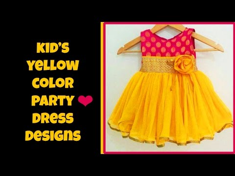 Kid's Yellow Party Dresses 2017