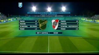 Fútbol en vivo. Defensa - River. Postergado Fecha 19. Torneo de Primera División 2015. FPT