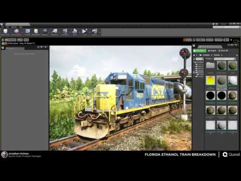 Florida Ethanol Train Breakdown, Megascans to Unreal Engine 4