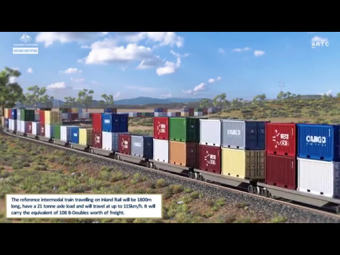 Inland Rail Fly-through Melbourne To Brisbane