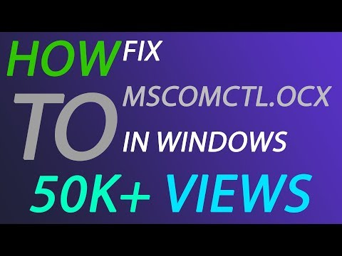 How to fix MSCOMCTL OCX in Windows