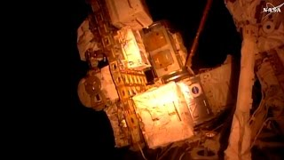Full ISS Expedition 50 Spacewalk US EVA 38 - Shane Kimbrough - Peggy Whitson - ISS Battery Bank