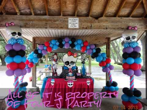 Homemade Monster High Party Decorations