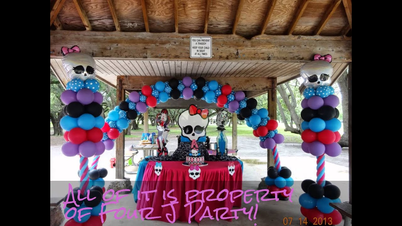 Monster High Decorations Youtube. SaveEnlarge · Party Decorations Miami Party Decorations & Monster High Party Decoration Ideas - Elitflat