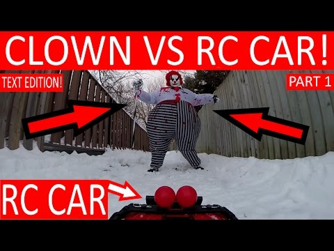 "IT CLOWN ATTACKS ""HENRY THE RC CAR""! (PART 1)"