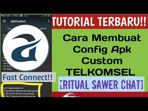 MANTAP!! Cara Membuat Config Apk Custom TELKOMSEL [Sawer Chat] Mode Pointing