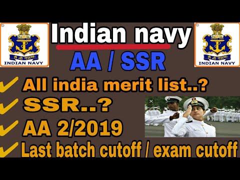 Indian navy SSR & AA final merit list 2/2019//last batch final cutoff//navy written exam cutoff