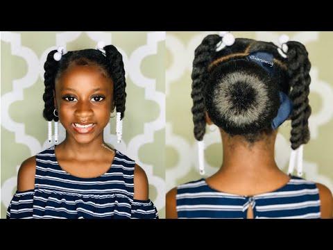 Quick & Easy Bun Style | Kids Natural Hairstyles | IAMAWOG
