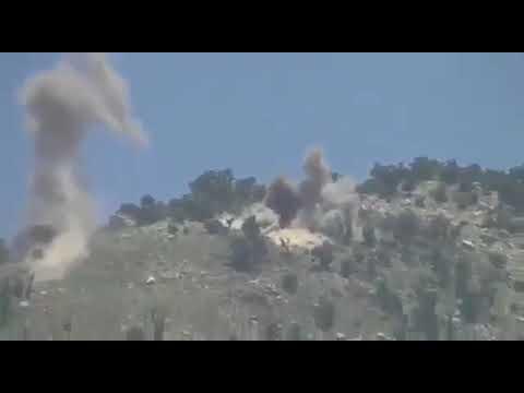 Pakistan Army destroying Indian posts at Pandu Indian Kashmir.