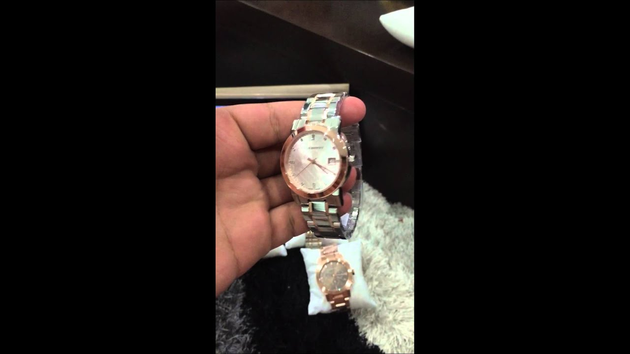 burberry gold tone watch