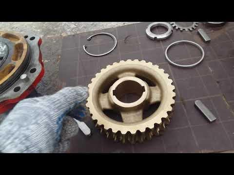Юник Unic 370 редуктор поворота колонны.