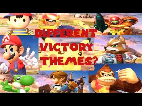 What If All Super Smash bros  Ultimate Characters had different victory themes?