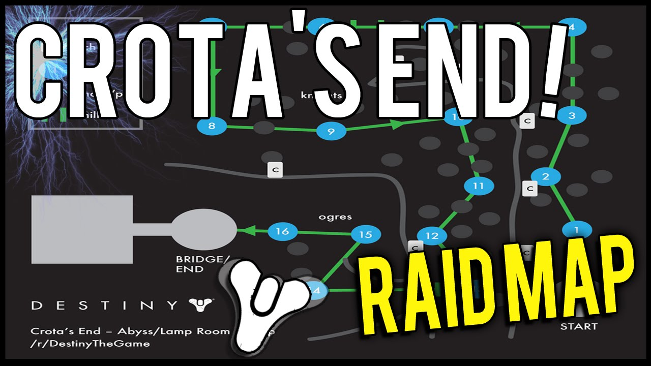 Destiny how many lamps are in crotas end - Destiny Crota S End Raid Abyss Lamp Room Map Guide