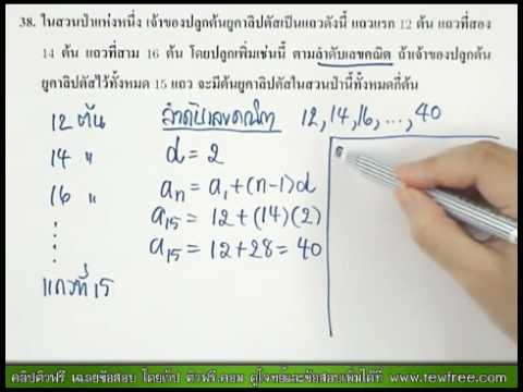 เฉลย ข้อสอบ O-NET '53 ข้อ 38/40 [ติวฟรี.คอม]