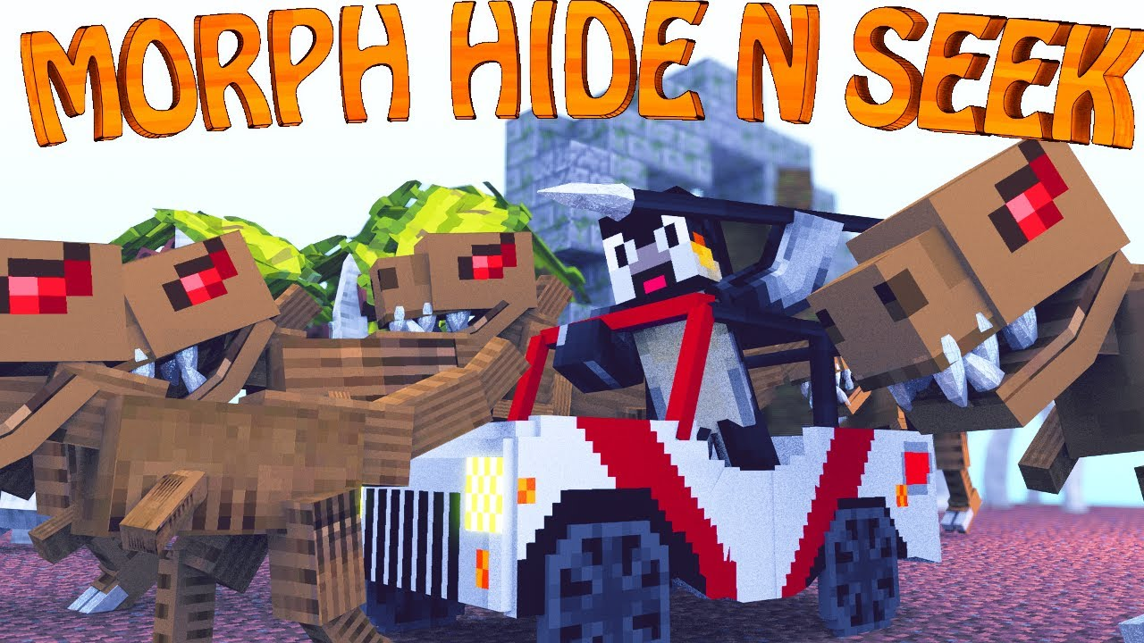 Minecraft Mods Morph Hide And Seek The Modded Games Ep 7 Morph Mod