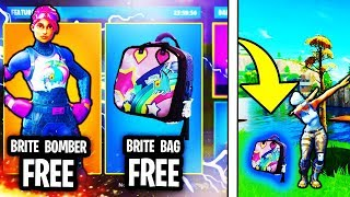 "GET NEW FREE ""BRITE BAG"" IN FORTNITE! UNLOCK FREE BRITE BAG UPDATE IN FORTNITE! (SECRET BRITE BAG)"