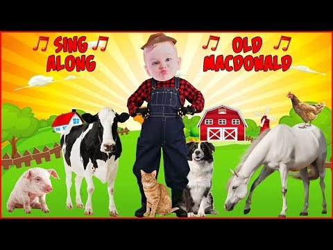 Old MacDonald Had a Farm Song for Kids Sing Along Nursery Rhyme